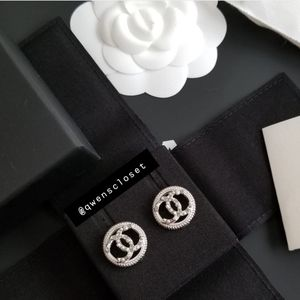Chanel 18A Crystal/Pearl Silver Classic Earrings